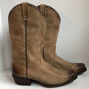 American Rebel leather cowboy boots size 10